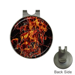 On Fire Hat Clip With Golf Ball Marker by dflcprints