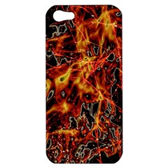 On Fire Apple Iphone 5 Hardshell Case by dflcprints