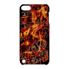 On Fire Apple Ipod Touch 5 Hardshell Case With Stand by dflcprints