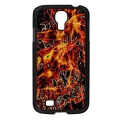 On Fire Samsung Galaxy S4 I9500/ I9505 Case (black) by dflcprints
