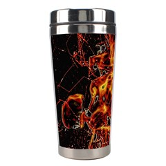 On Fire Stainless Steel Travel Tumbler by dflcprints