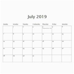 2019 Calendar Mix By Lisa Minor   Wall Calendar 11  X 8 5  (12 Months)   Xfis9fh0kdhb   Www Artscow Com Jul 2019