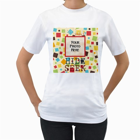 May I? Shirt By Lisa Minor   Women s T Shirt (white)    9atycslrrmld   Www Artscow Com Front