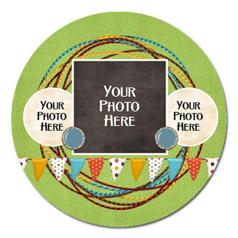 May I? Magnet By Lisa Minor   Magnet 5  (round)   Snmeoi7fnxaa   Www Artscow Com Front