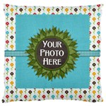 May I? Cushion - Large Cushion Case (One Side)