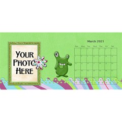 2015 Monster Party 11x5 Calendar By Lisa Minor   Desktop Calendar 11  X 5    87mx28nsn83f   Www Artscow Com Mar 2015