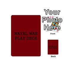 Naval War Play Deck 1 By Scott Hill   Playing Cards 54 (mini)   Vooaeqnj0rdm   Www Artscow Com Back