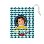 Drawstring Pouch (L): Little Man - Drawstring Pouch (Large)