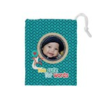 Drawstring Pouch (M): Too Cute - Drawstring Pouch (Medium)