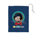 Drawstring Pouch (L): Little Man 2 - Drawstring Pouch (Large)