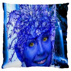 Water Nymph Large Cushion Case (single Sided)  by icarusismartdesigns