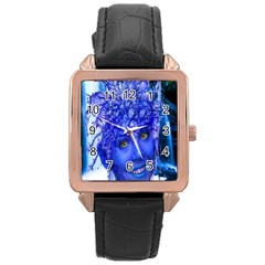 Water Nymph Rose Gold Leather Watch  by icarusismartdesigns