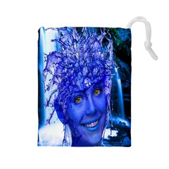 Water Nymph Drawstring Pouch (large)