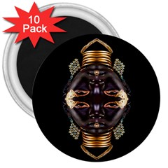 African Goddess 3  Button Magnet (10 Pack) by icarusismartdesigns