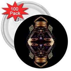 African Goddess 3  Button (100 Pack)