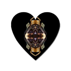 African Goddess Magnet (heart) by icarusismartdesigns