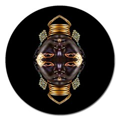 African Goddess Magnet 5  (round) by icarusismartdesigns