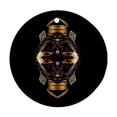 African Goddess Round Ornament (two Sides) by icarusismartdesigns