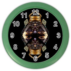 African Goddess Wall Clock (Color) by icarusismartdesigns