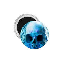 Skull In Water 1 75  Button Magnet by icarusismartdesigns