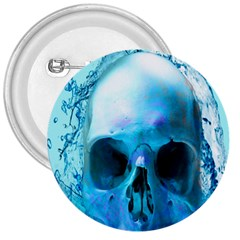 Skull In Water 3  Button by icarusismartdesigns
