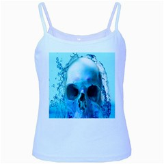 Skull In Water Baby Blue Spaghetti Tank by icarusismartdesigns