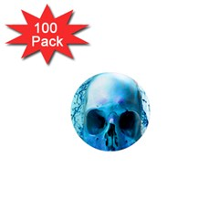 Skull In Water 1  Mini Button Magnet (100 Pack) by icarusismartdesigns