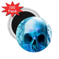 Skull In Water 2 25  Button Magnet (100 Pack)