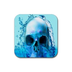 Skull In Water Drink Coasters 4 Pack (square) by icarusismartdesigns