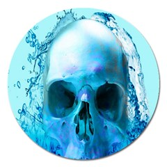 Skull In Water Magnet 5  (round) by icarusismartdesigns