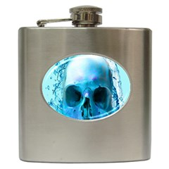Skull In Water Hip Flask by icarusismartdesigns