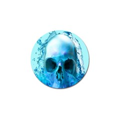 Skull In Water Golf Ball Marker 4 Pack by icarusismartdesigns