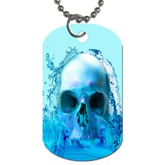 Skull In Water Dog Tag (two Sided)  by icarusismartdesigns