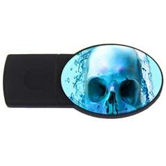 Skull In Water 2gb Usb Flash Drive (oval)