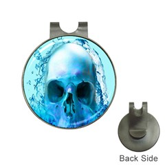 Skull In Water Hat Clip With Golf Ball Marker by icarusismartdesigns