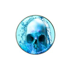 Skull In Water Golf Ball Marker 4 Pack (for Hat Clip) by icarusismartdesigns