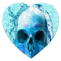 Skull In Water Jigsaw Puzzle (heart) by icarusismartdesigns
