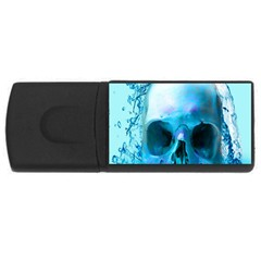 Skull In Water 4gb Usb Flash Drive (rectangle) by icarusismartdesigns