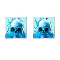 Skull In Water Cufflinks (square)