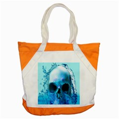 Skull In Water Accent Tote Bag by icarusismartdesigns