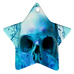 Skull In Water Star Ornament (two Sides) by icarusismartdesigns