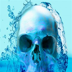Skull In Water Canvas 12  X 12  (unframed) by icarusismartdesigns