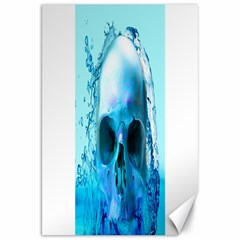 Skull In Water Canvas 20  X 30  (unframed) by icarusismartdesigns
