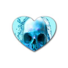 Skull In Water Drink Coasters (heart) by icarusismartdesigns