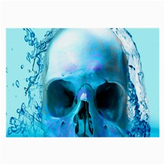 Skull In Water Glasses Cloth (large) by icarusismartdesigns