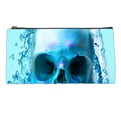 Skull In Water Pencil Case by icarusismartdesigns