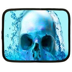 Skull In Water Netbook Sleeve (xl) by icarusismartdesigns