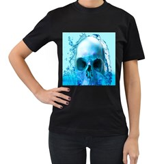 Skull In Water Women s T Shirt (black) by icarusismartdesigns