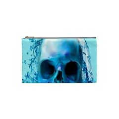 Skull In Water Cosmetic Bag (small) by icarusismartdesigns