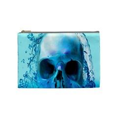 Skull In Water Cosmetic Bag (medium)
